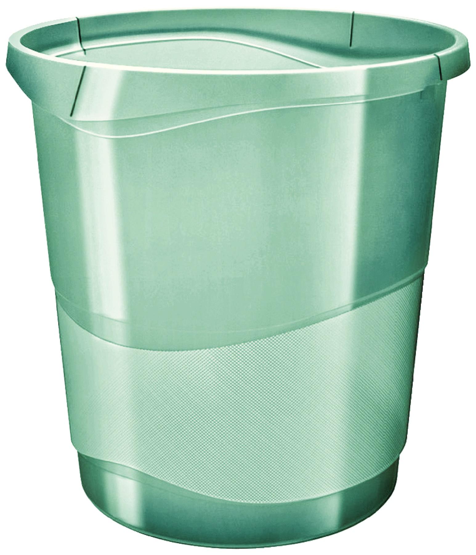 Корзина для мусора Esselte Colour'Ice, зеленый, 14 л