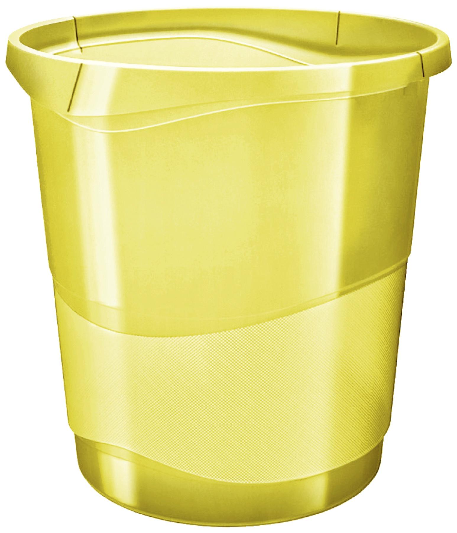 Корзина для мусора Esselte Colour'Ice, желтый, 14 л корзина для бумаг цельнолитая синяя 13 литров