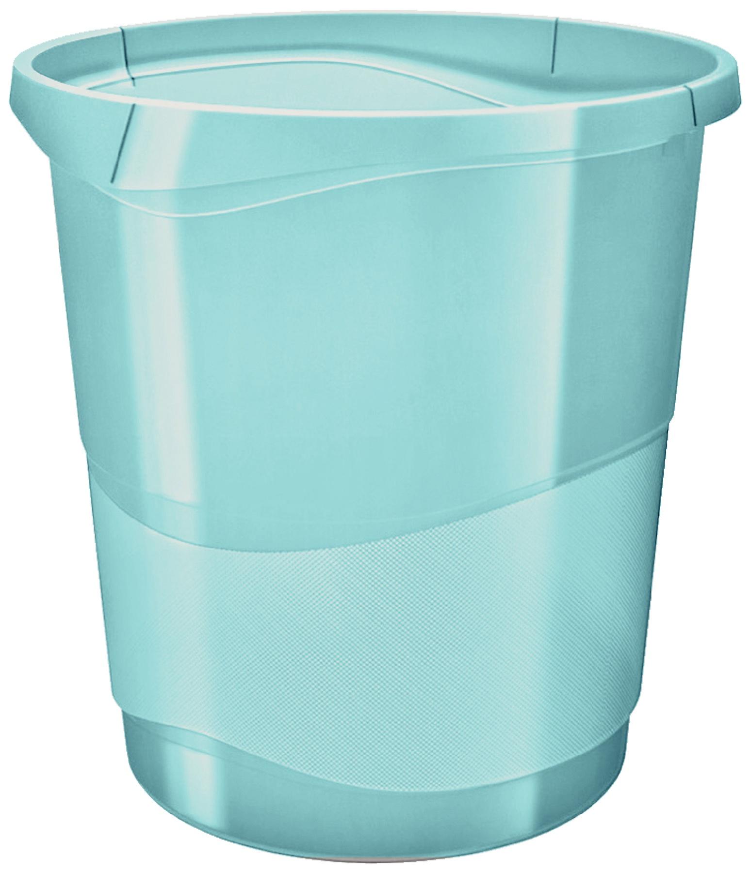 Корзина для мусора Esselte Colour'Ice, синий, 14 л корзина для бумаг цельнолитая синяя 13 литров
