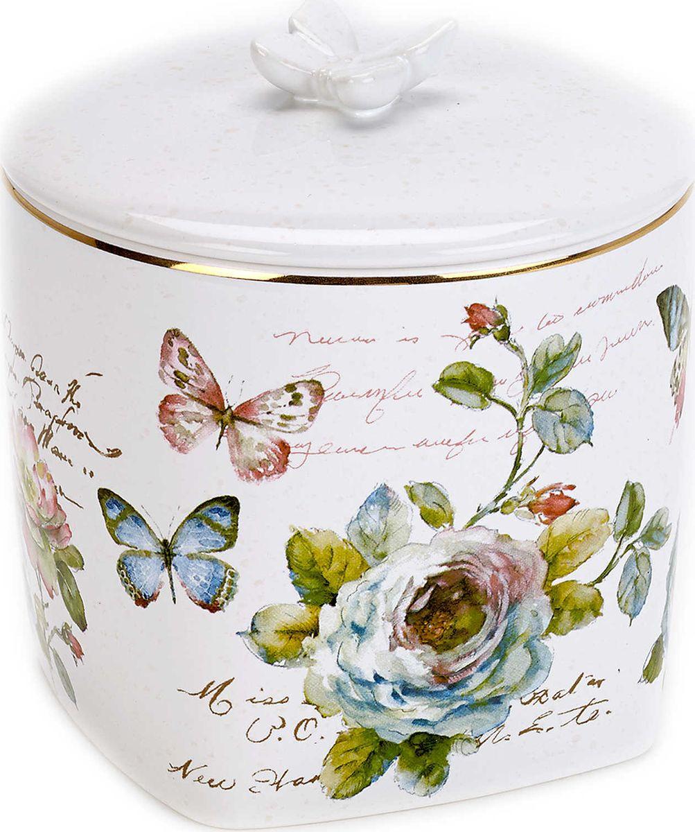 Косметическая емкость Avanti Butterfly Garden, 13882K, с крышкой, 11 х 11 х 11 см13882KКоллекция Avanti Butterfly Garden Bath представляет собой прекрасный цветочный тематический набор аксессуаров, который будет выглядеть потрясающе в вашей ванной комнате. Каждый отдельный предмет имеет изображение бабочки, что придает ему модный и отличный внешний вид.