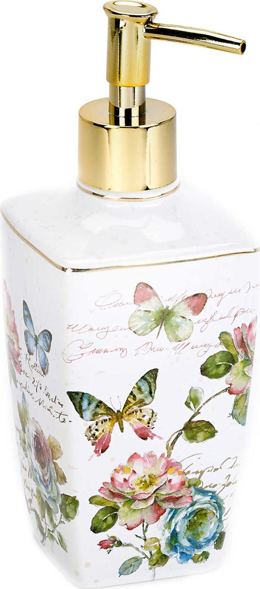 цена на Дозатор для жидкого мыла Avanti Butterfly Garden, 13882D, 350 мл
