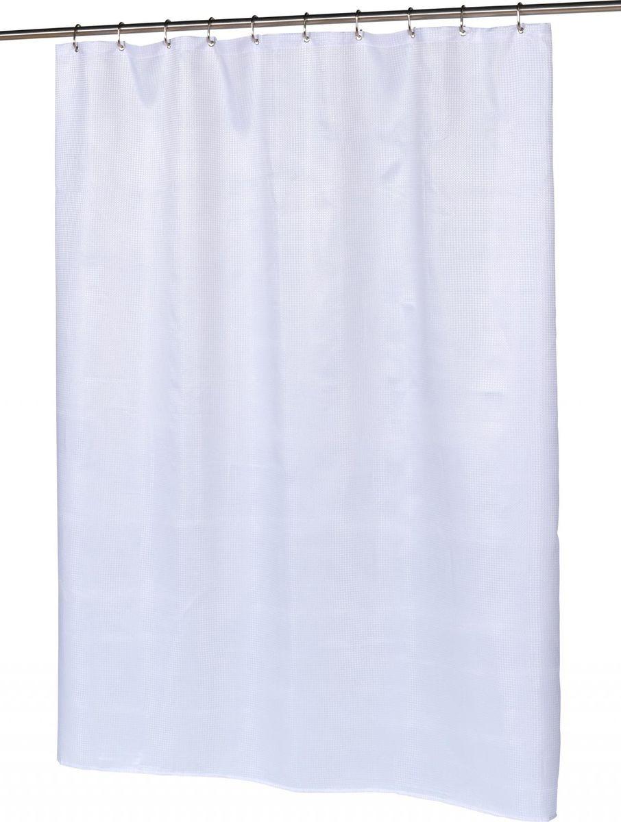 Шторка для ванной Carnation Home Fashions Waffle Weave White, SCWAF-21, 183 х 183 см штора для ванной avanti antigua 183 183 см