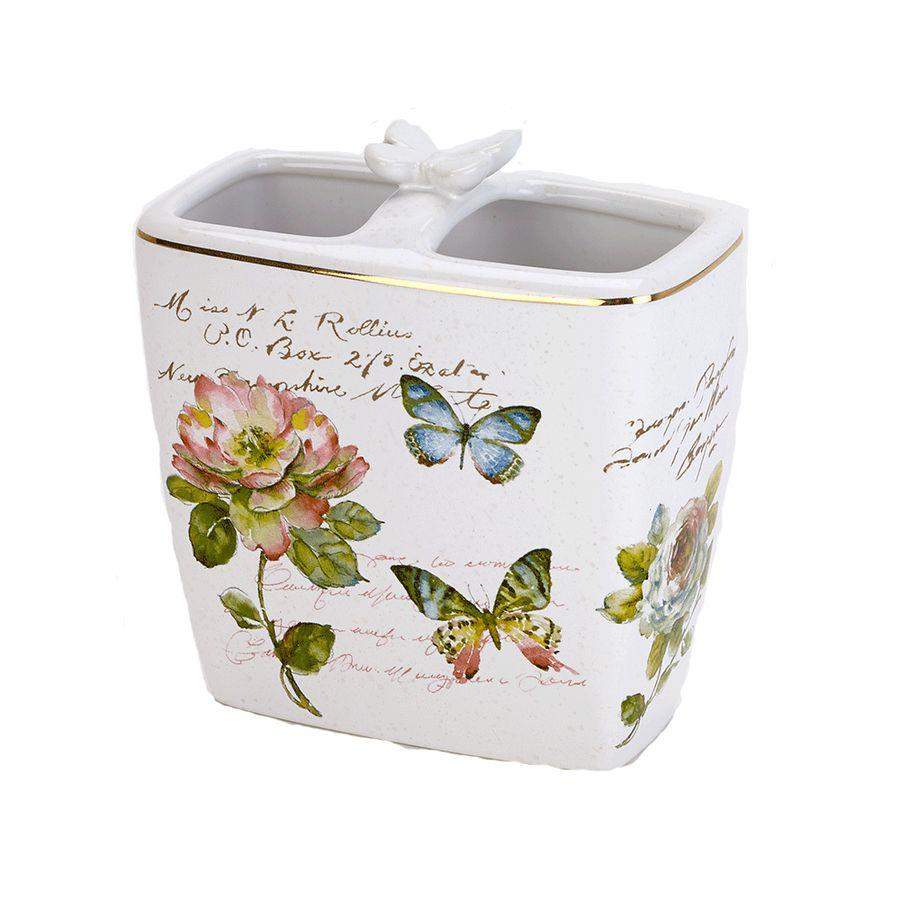 цена на Стакан для зубных щеток Avanti Butterfly Garden, 13882B, 200 мл