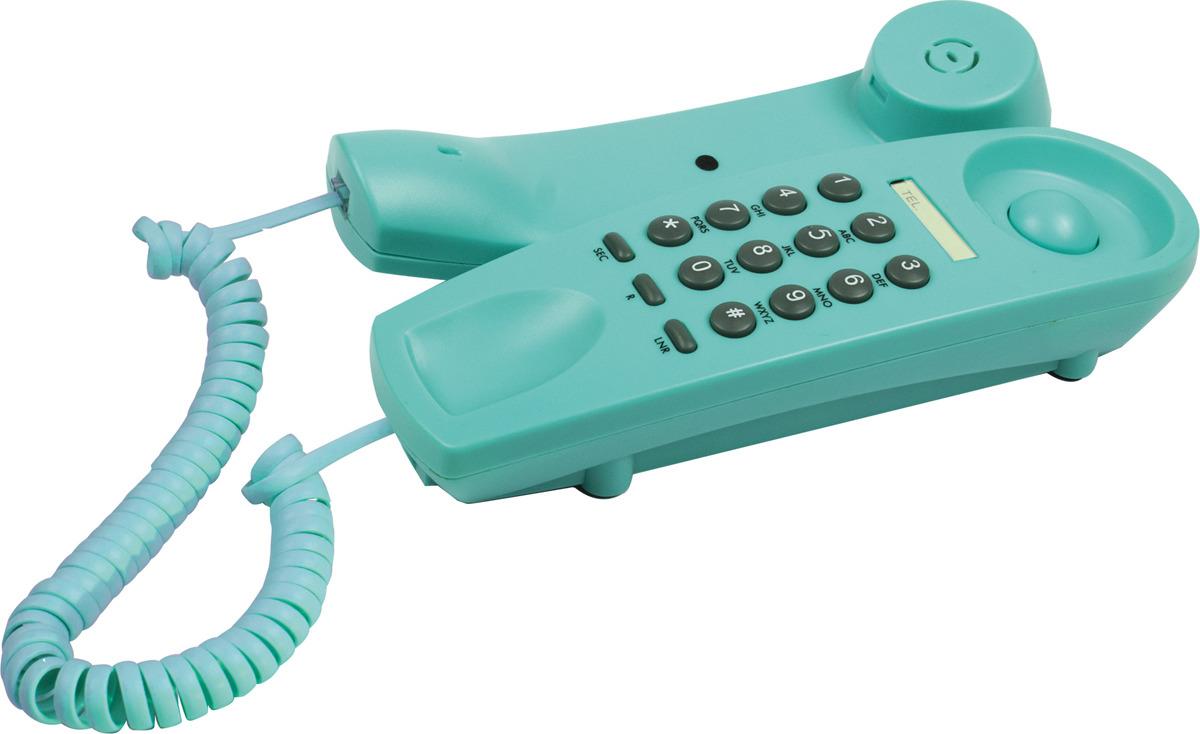 Телефон Ritmix RT-005, бирюзовый телефон ritmix rt 520