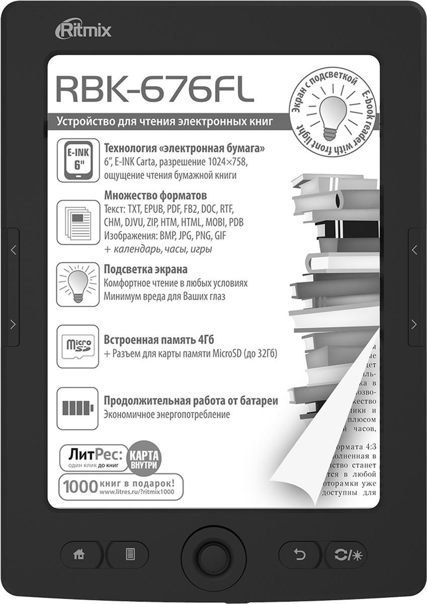 Электронная книга Ritmix RBK-676FL 6