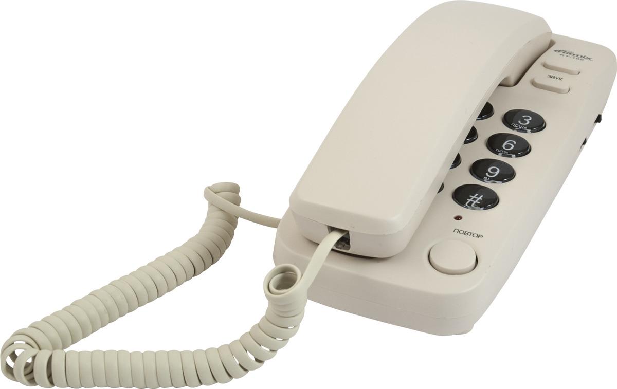Проводной телефон Ritmix RT-100, слоновая кость телефон ritmix rt 520