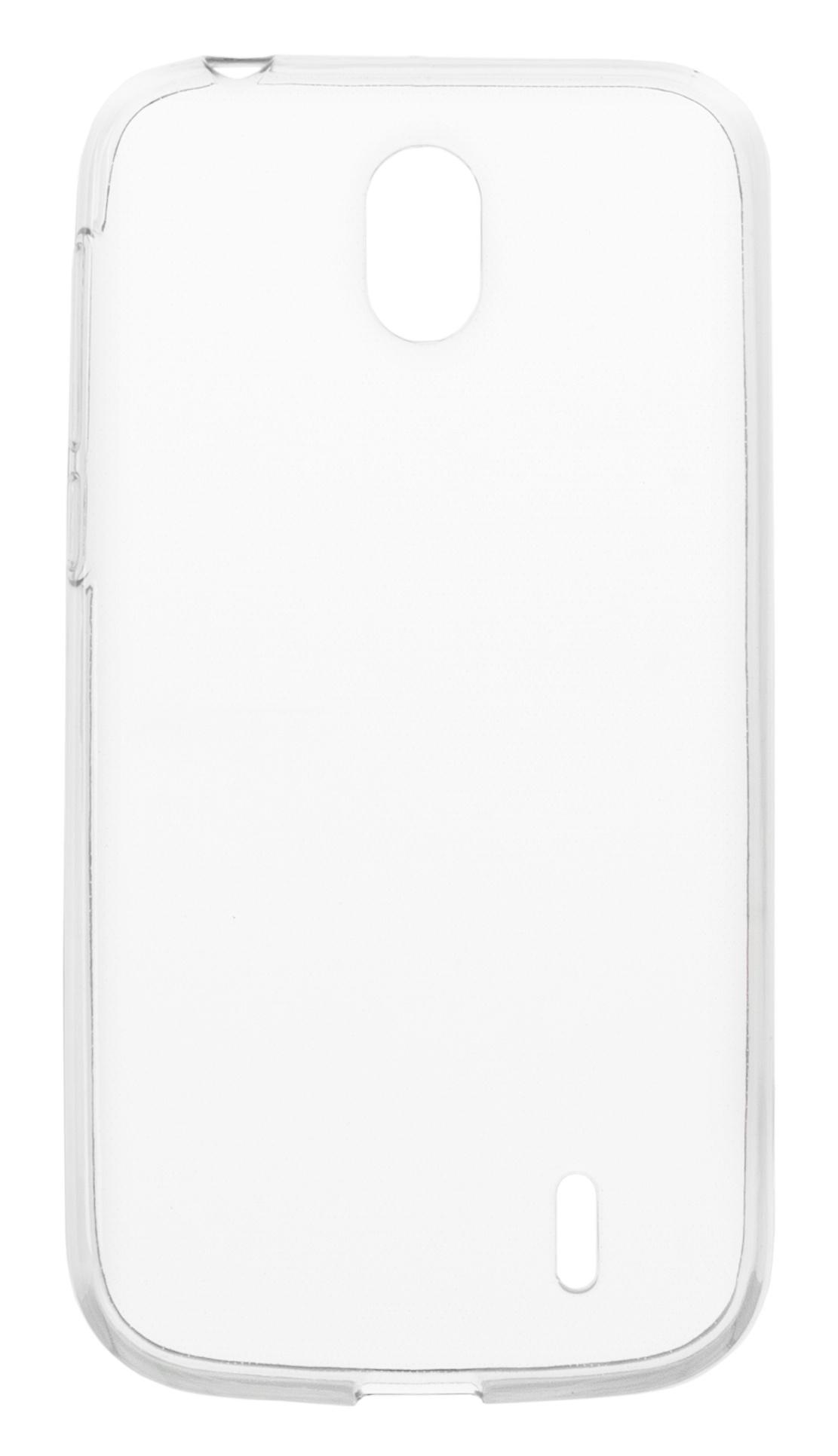 Накладка Skinbox Slim Silicone для Nokia 1, 4660041403619, прозрачный skinbox накладка skinbox slim silicone для lg v20