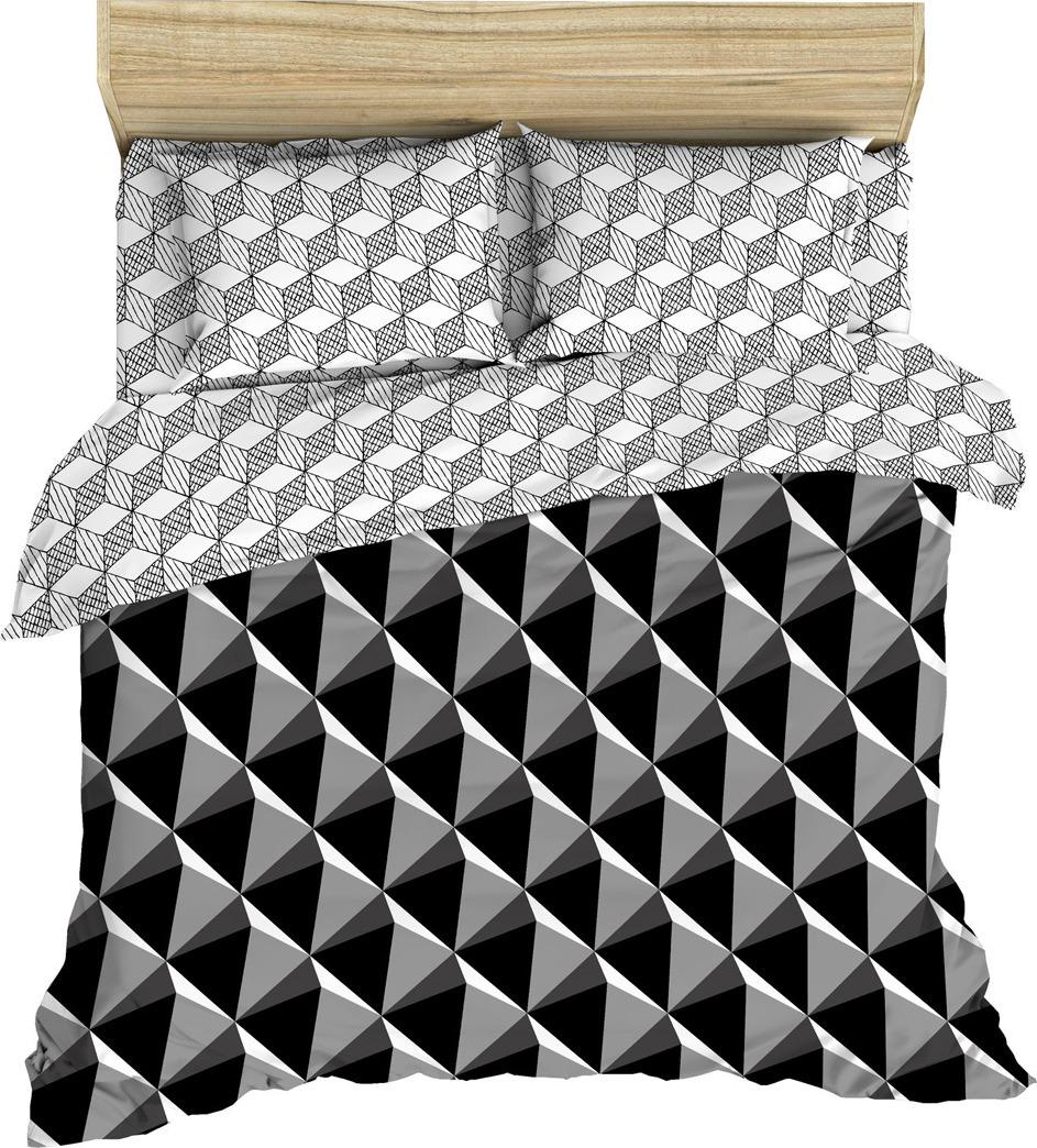 Комплект постельного белья Василиса, 182896, 2-х спальный, наволочки 70x70, черный комплект постельного белья василиса 185625 2 х спальный наволочки 70x70 голубой