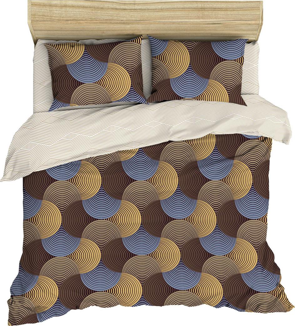 Комплект постельного белья Василиса, 182563, 2-х спальный, наволочки 70x70, коричневый комплект постельного белья василиса 185625 2 х спальный наволочки 70x70 голубой
