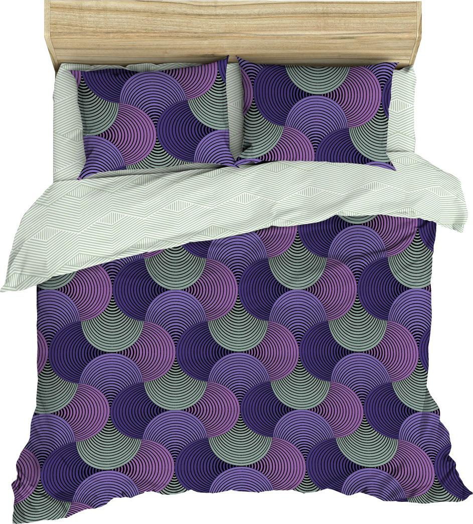 Комплект постельного белья Василиса, 184573, 2-х спальный, наволочки 70x70, фиолетовый комплект постельного белья василиса 185625 2 х спальный наволочки 70x70 голубой