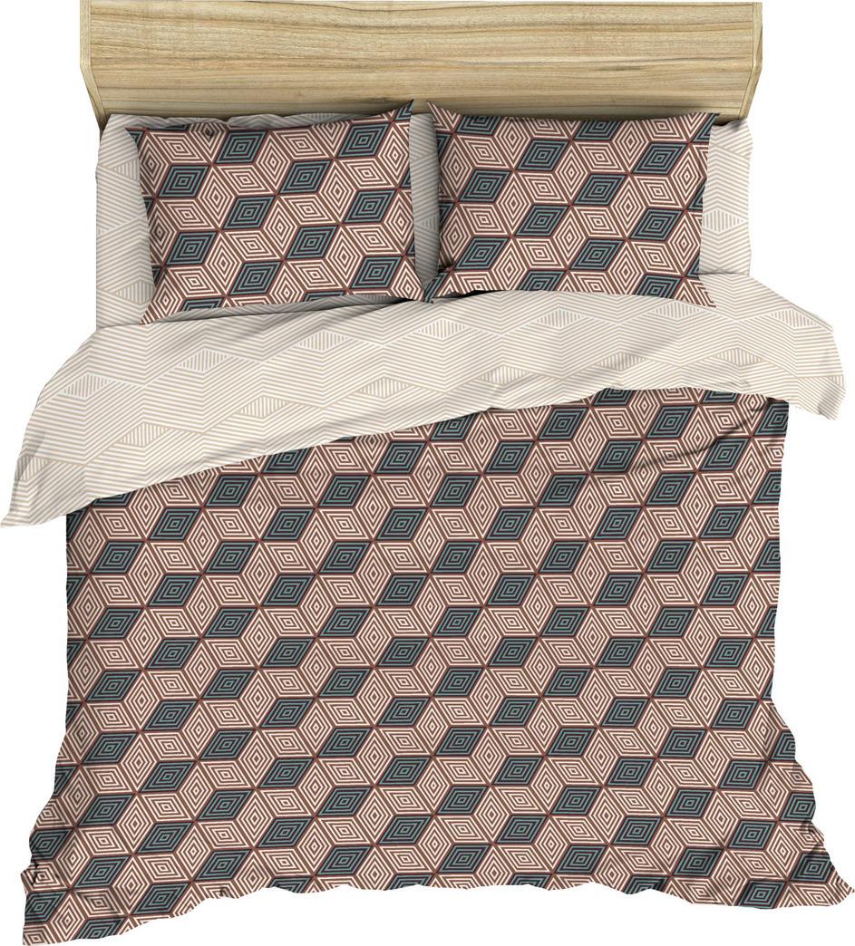 Комплект постельного белья Василиса, 182569, 2-х спальный, наволочки 70x70, коричневый комплект постельного белья василиса 185625 2 х спальный наволочки 70x70 голубой