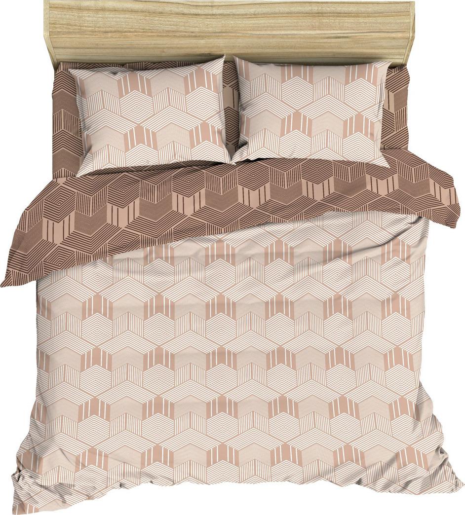 Комплект постельного белья Василиса, 182559, 2-х спальный, наволочки 70x70, бежевый комплект постельного белья василиса 185625 2 х спальный наволочки 70x70 голубой