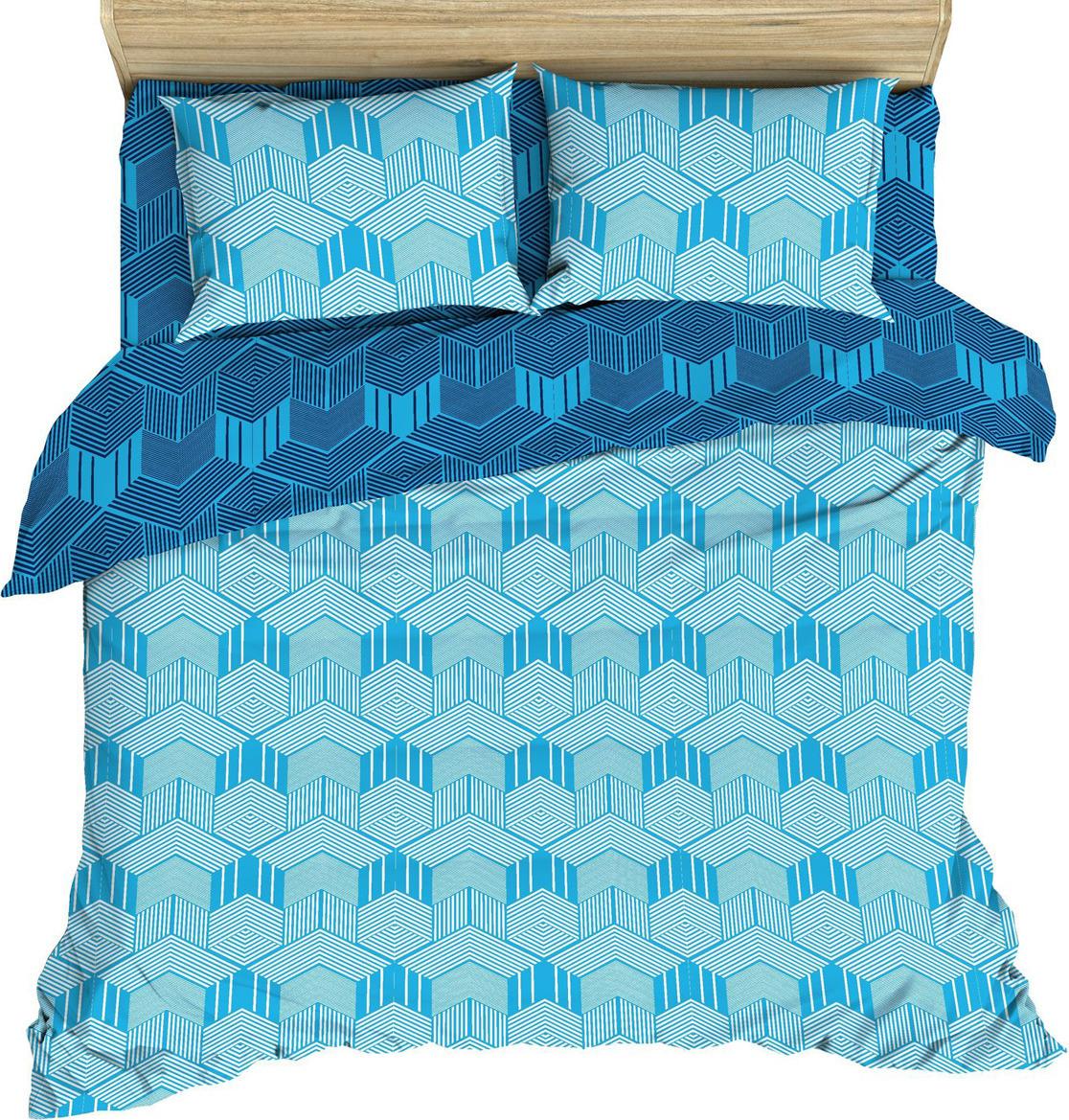 Комплект постельного белья Василиса, 185625, 2-х спальный, наволочки 70x70, голубой комплект постельного белья василиса 185625 2 х спальный наволочки 70x70 голубой