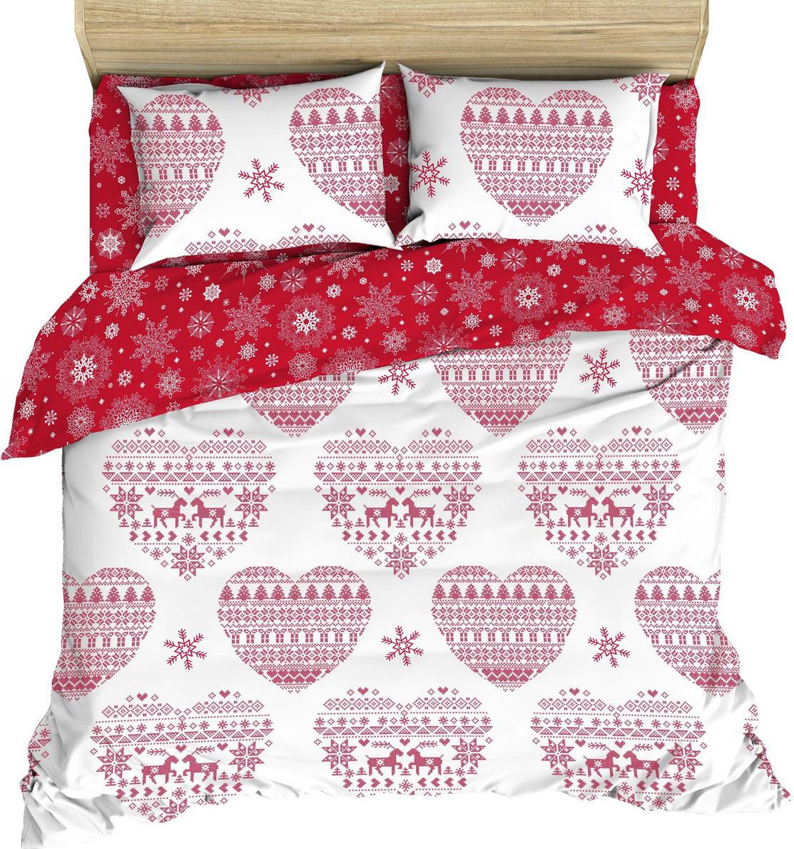 Комплект постельного белья Василиса, 187349, 2-х спальный, наволочки 70x70, красный комплект постельного белья василиса 185625 2 х спальный наволочки 70x70 голубой