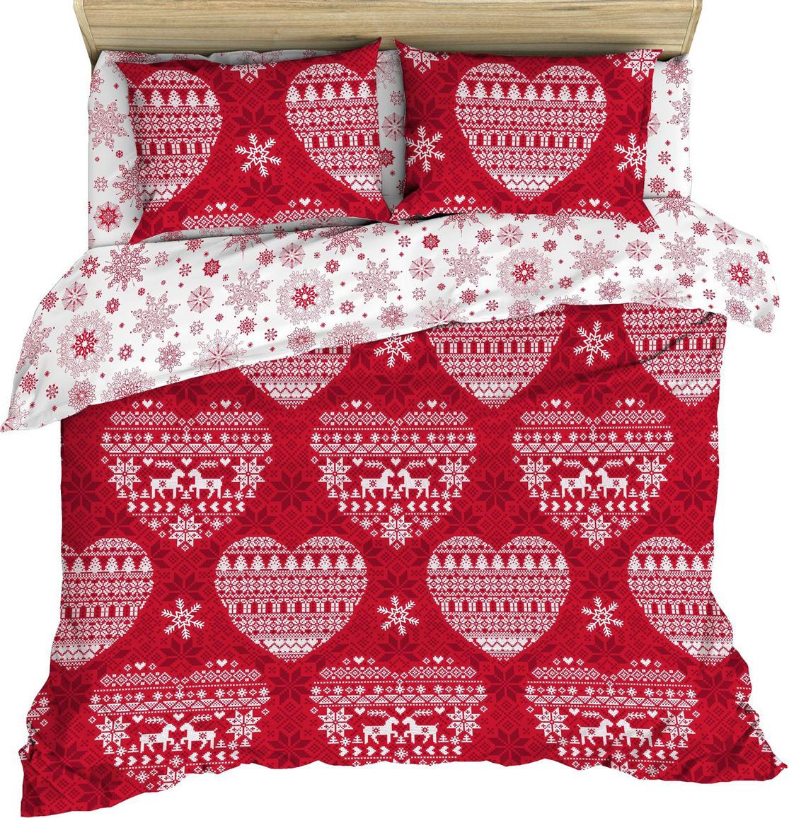 Комплект постельного белья Василиса, 187339, семейный, наволочки 70x70, красный цена и фото