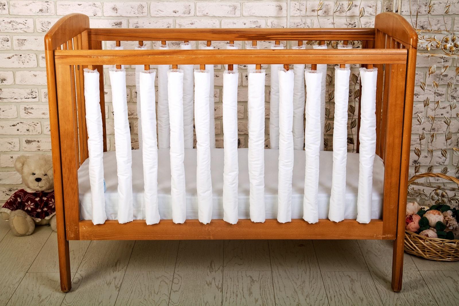 Бортик для кроватки Cloud Factory Plain White, белый цена