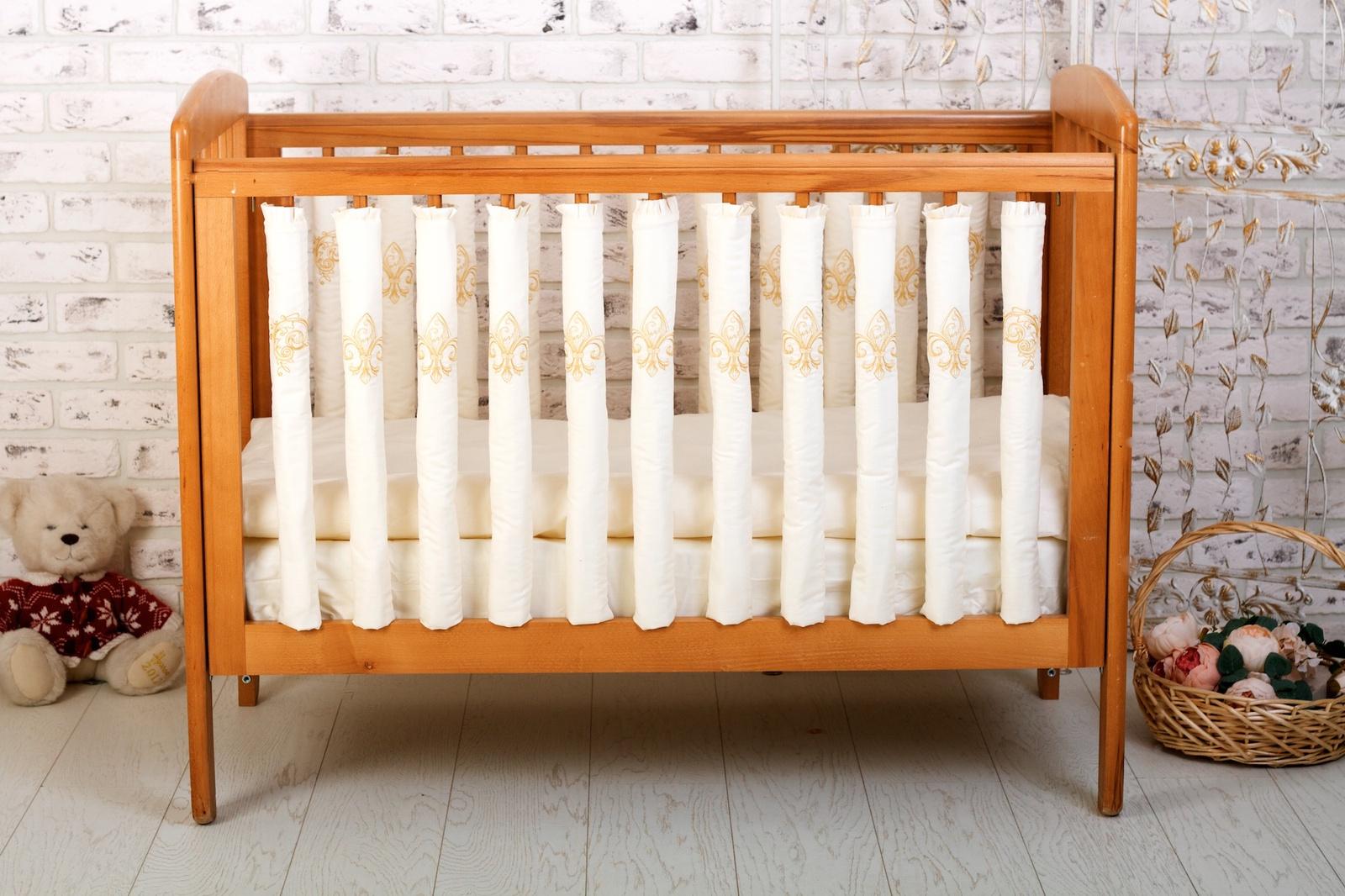 Бортик в кроватку Cloud Factory Royal Baby, 12 фенс-бамперов, CF-1-RB цена