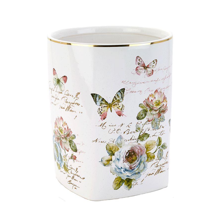цена Корзина для мусора Avanti Butterfly Garden, 13882F, 4 л в интернет-магазинах