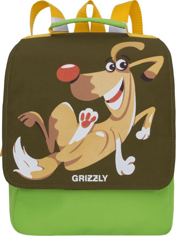 Рюкзак дошкольный Grizzly, RK-998-1/3, зеленый, 25 х 30 х 11 см