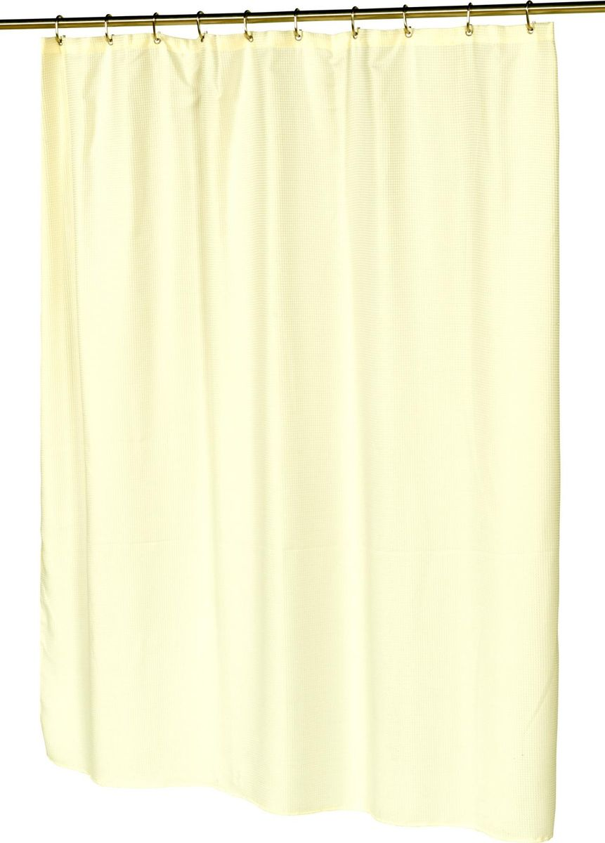 Шторка для ванной Carnation Home Fashions Waffle Weave Ivory, SCWAF-08, 183 х 183 см штора для ванной avanti antigua 183 183 см