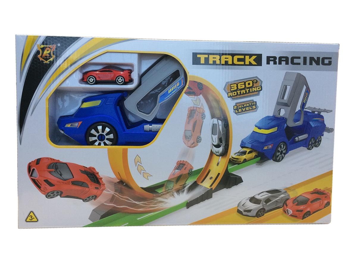 Авторек с запуском S+S Toys TRUCK, 200161924 автотрек s s toys 68814 с машинками в коробке