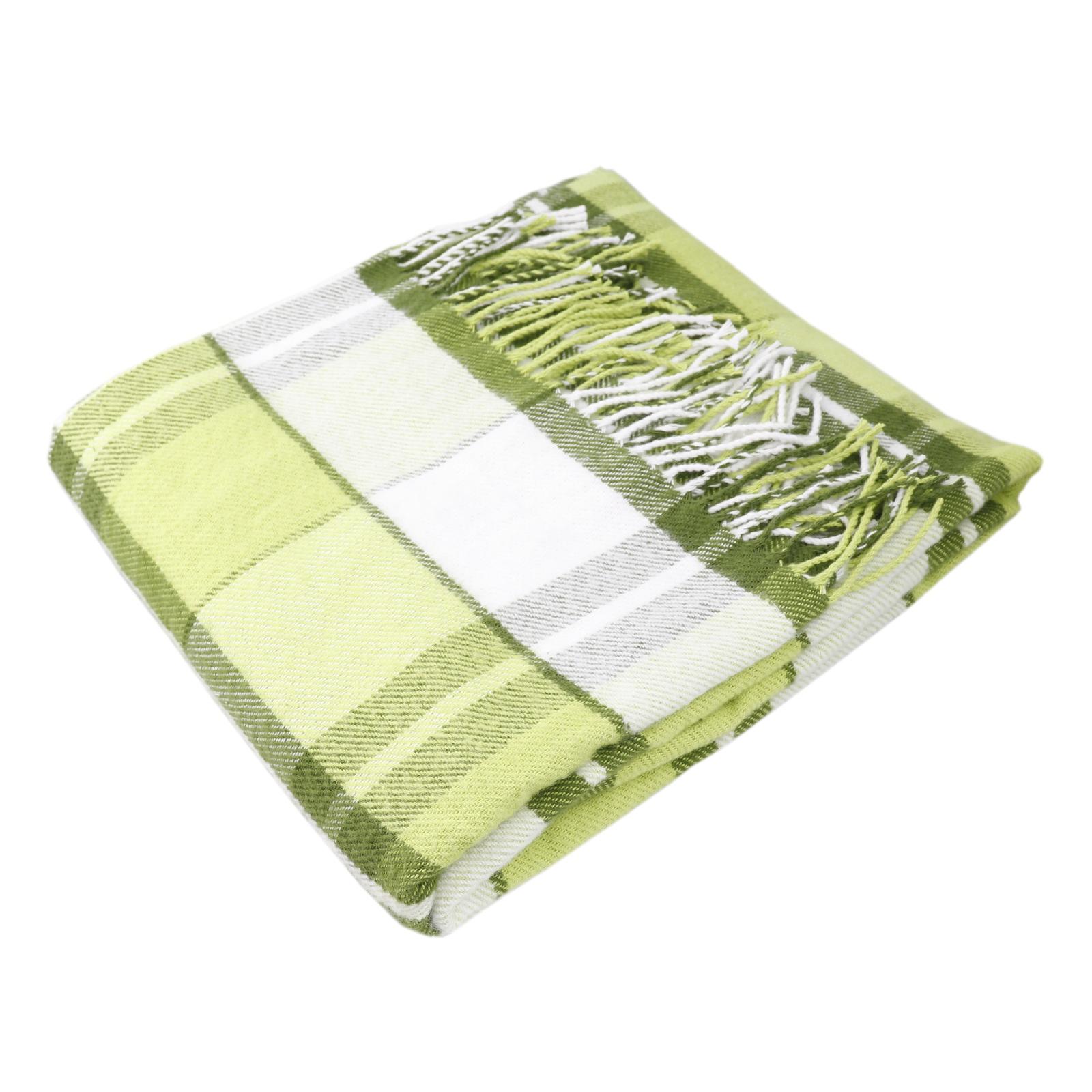Фото - Плед ARLONI хлоп в клет Эдинбург светл-зелен 140*200 плед arloni плед покрывало кокос олива 100% хлопок 140 200 хлопок