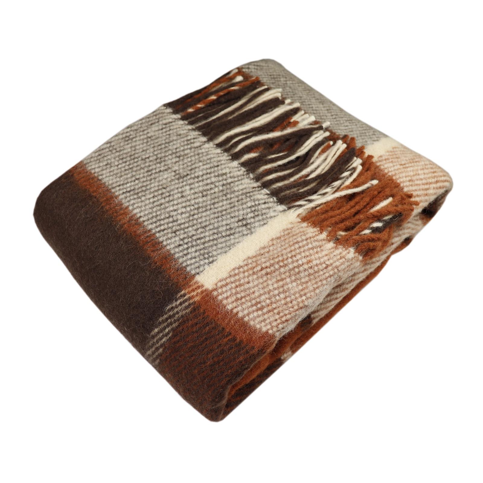"Плед Arloni ""Традиция"", рыжий, коричневый, 130х180 см"