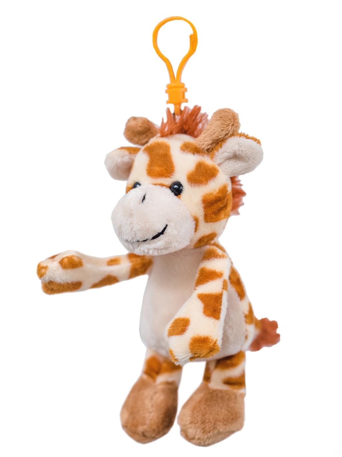 Мягкая игрушка Плюш Ленд брелок Жираф из коллекции Mini Zoo оранжевый цена