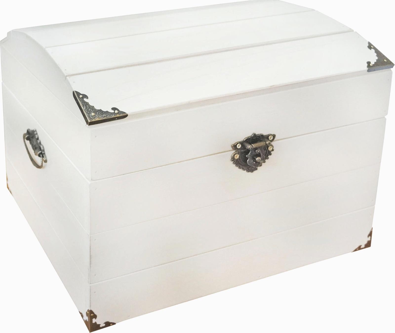 Коробка для хранения Мастер Рио Сундук белый, Дерево