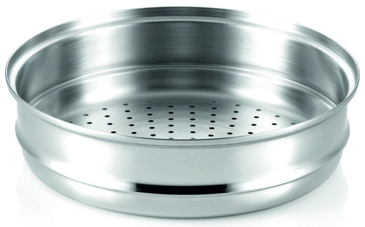 Пароварка Happycall Вставка для приготовления на пару STS Steamer 28cm. for Ceramic Pot, 3800-1003, Нержавеющая сталь3800-1003Для того чтобы готовить вкусно и быстро вовсе необязательно иметь диплом шеф-повара. Достаточно вооружиться умными помощниками на кухне! Наборы посуды от Happycall – верное решение для профессионалов и начинающих хозяек. С их помощью кулинарный процесс превратится в творческое занятие, где вдохновением станет удачный результат на радость всей семье! Помимо качественных и высокотехнологичных кастрюль, сковородок и гриль, у Happycall представлены практичные аксессуары, с которыми процесс создания кулинарных шедевров становится проще и быстрее! Вставка 28 см. для приготовления блюд на пару незаменимы для тех, кто следит за правильным питанием и сбалансированным рационом. С их помощью пища не теряет своих ценных веществ и витаминов даже под воздействием тепла. Секрет в циркуляции пара и контроле масла и жидкости. Наша компания является единственным дистрибьютором посуды и аксессуаров Happycall в России. Чтобы быть уверенными в качестве приобретаемых товаров, заказывайте их у нас и радуйте семью своими изысканными кулинарные шедеврами на завтрак, обед и ужин!