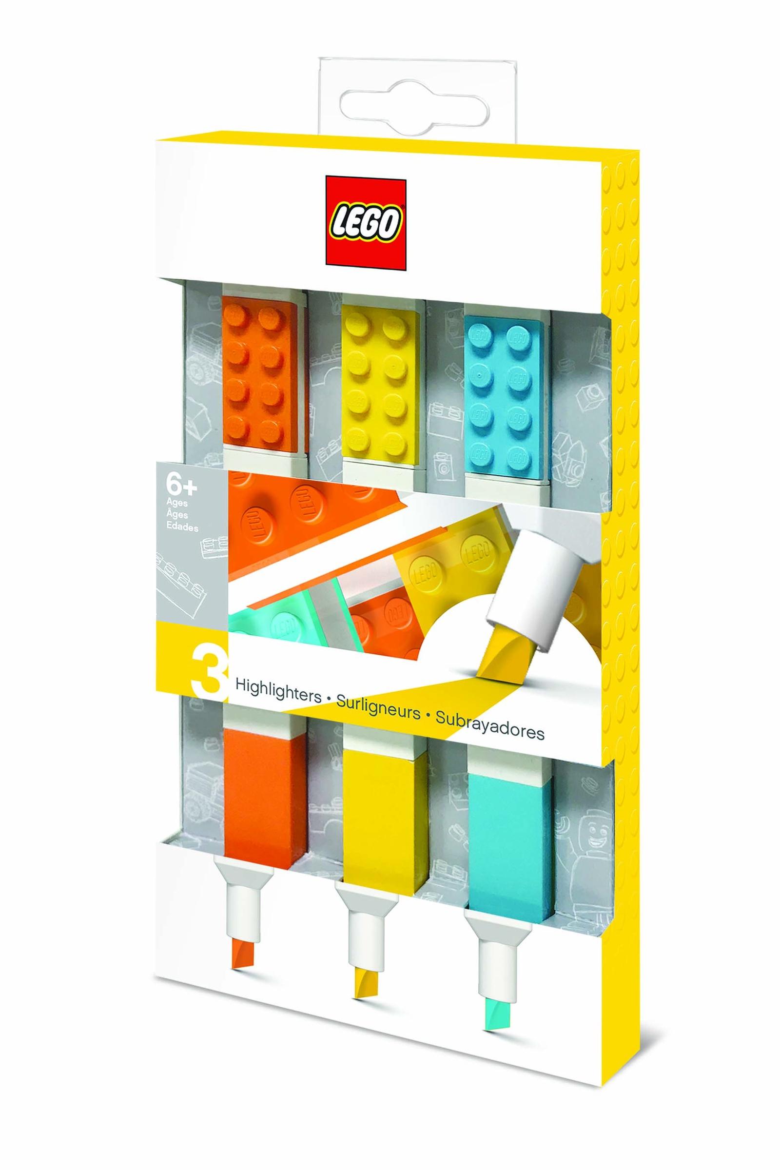 Набор цветных маркеров LEGO Classic, 51685, оранжевый, желтый, голубой, 3 шт набор текстовыделителей silwerhof prime 4 цвета 108031 00