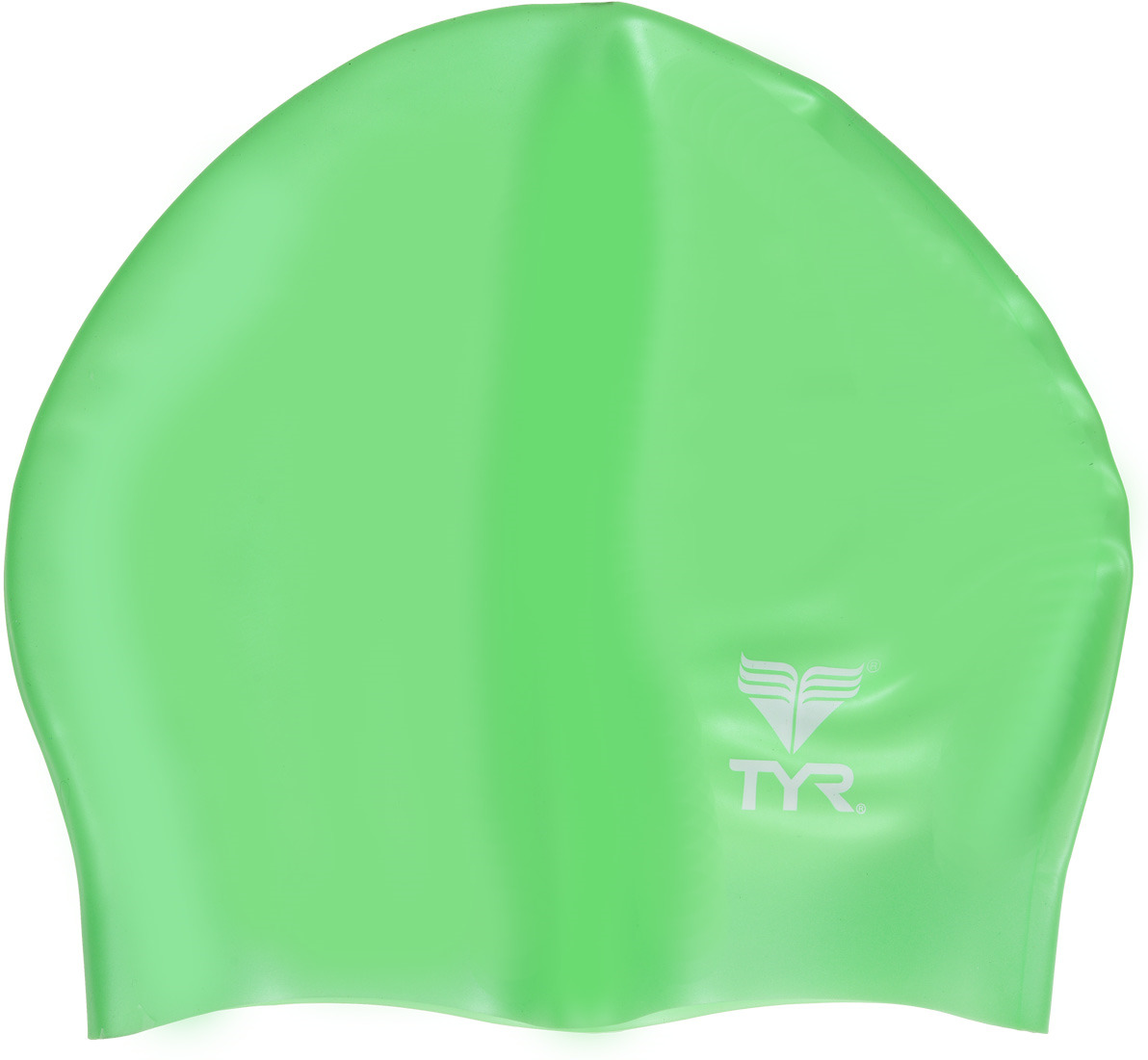 Шапочка для плавания Tyr Wrinkle Free Junior Silicone Cap, LCSJR, салатовый топ для плавания tyr tyr ty003ewxiw63