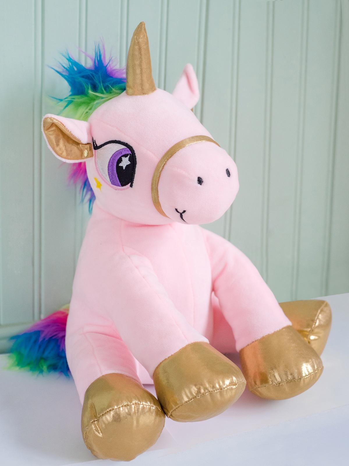 Мягкая игрушка Плюш Ленд Единорог, TL18083 светло-розовый кухонный набор сима ленд шеф повар хрюша 3505364