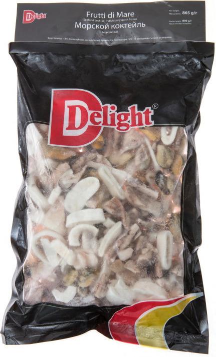 Морской коктейль Delight, свежемороженый, 865 г фуникова н сост необычные кальмары креветки мидии к