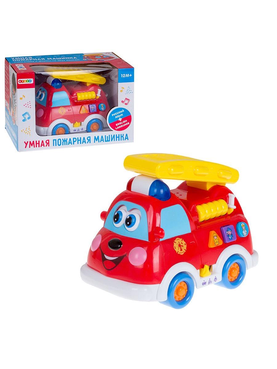 Развивающая игрушка LI FA Пожарная машина, 69692, красный в благов пожарная машина книжка игрушка