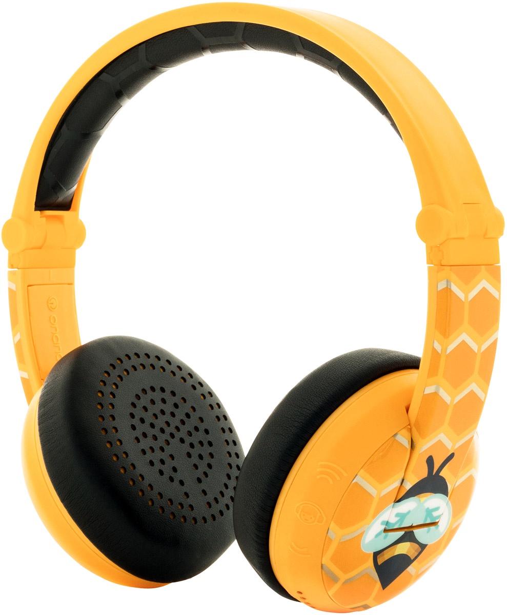 наушники детские Buddyphones Wave Bee, BT-BP-WV-BEE, желтые