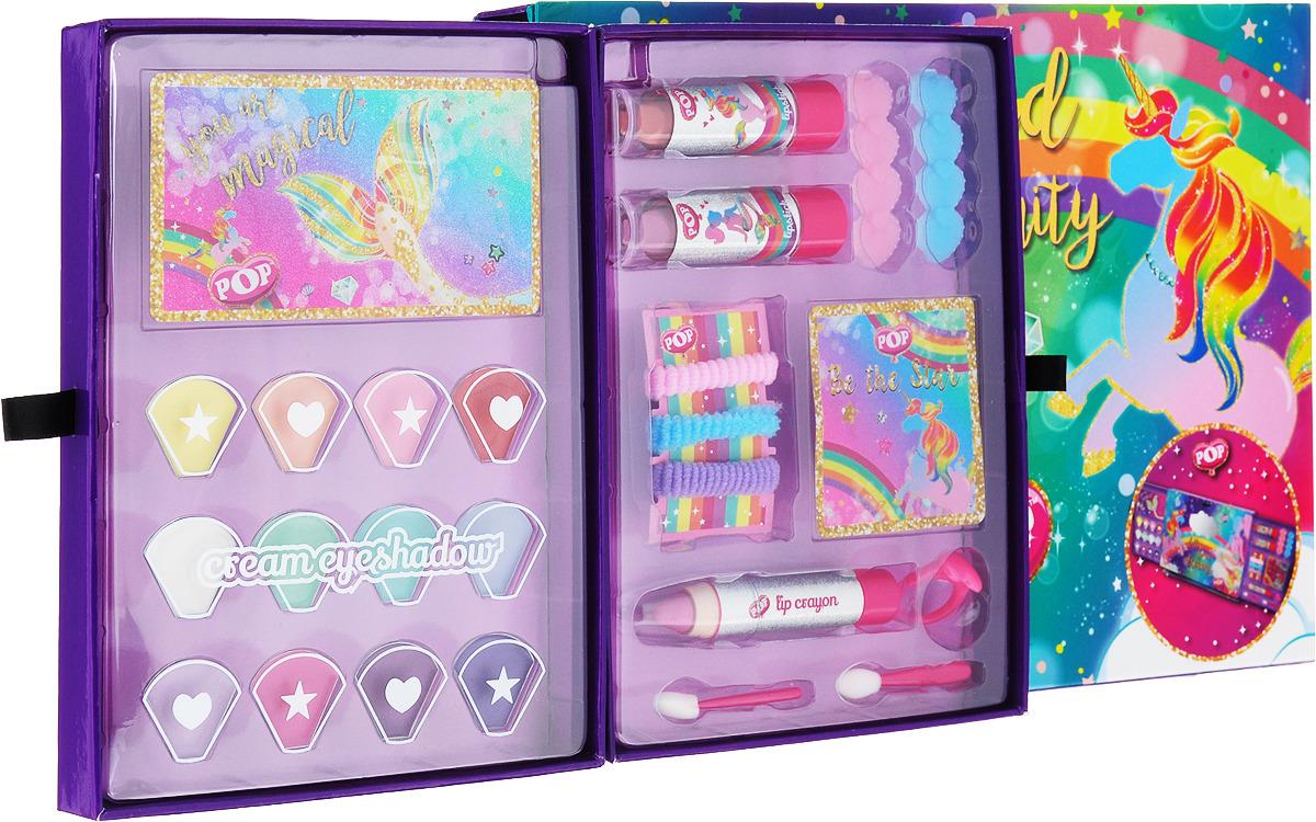 Игровой набор детской декоративной косметики Markwins POP, для лица невидимка для волос funny bunny розовые цветы 2 шт