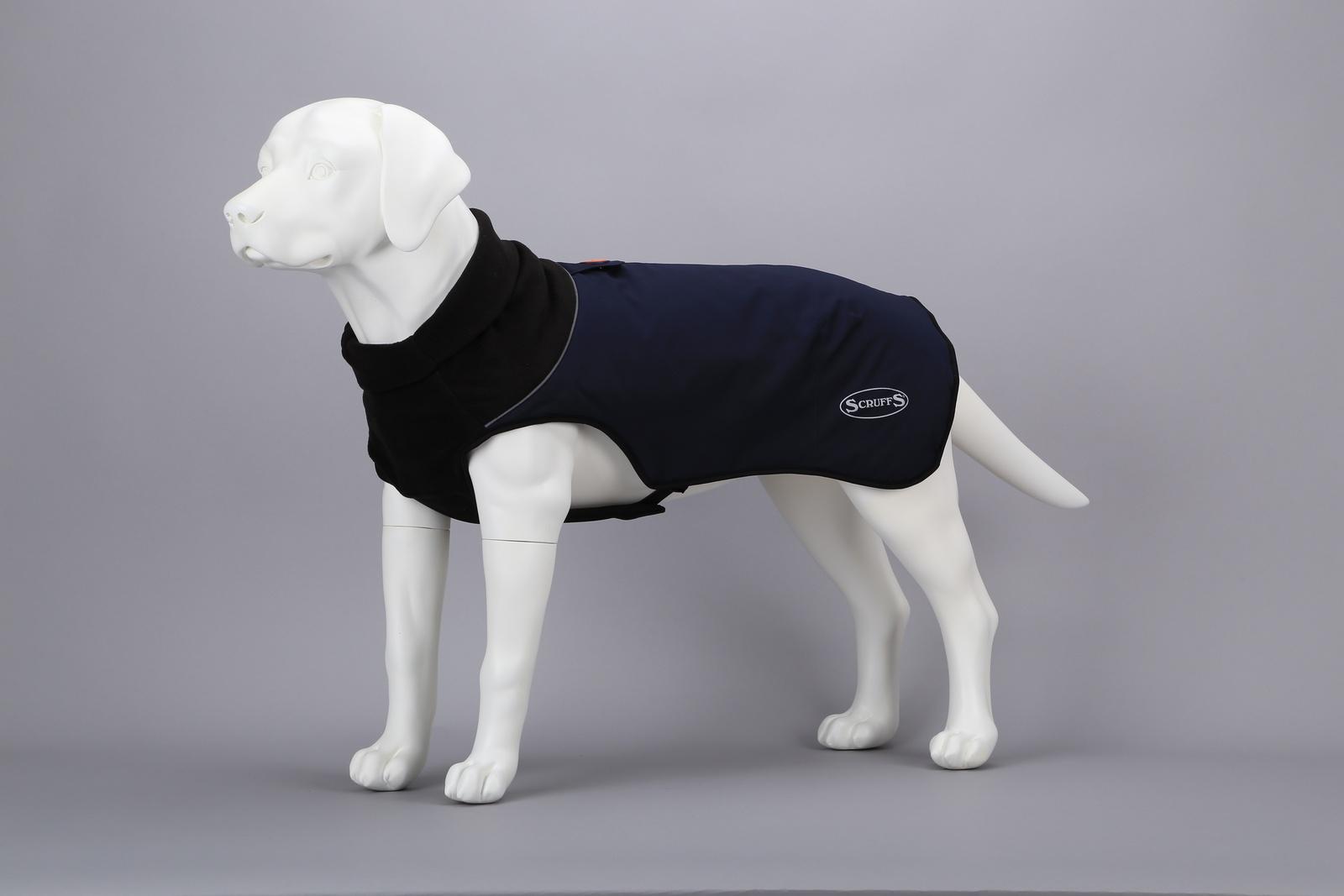 Одежда для собак SCRUFFS Thermal Попона согревающая 936082, 36см, темно-синий