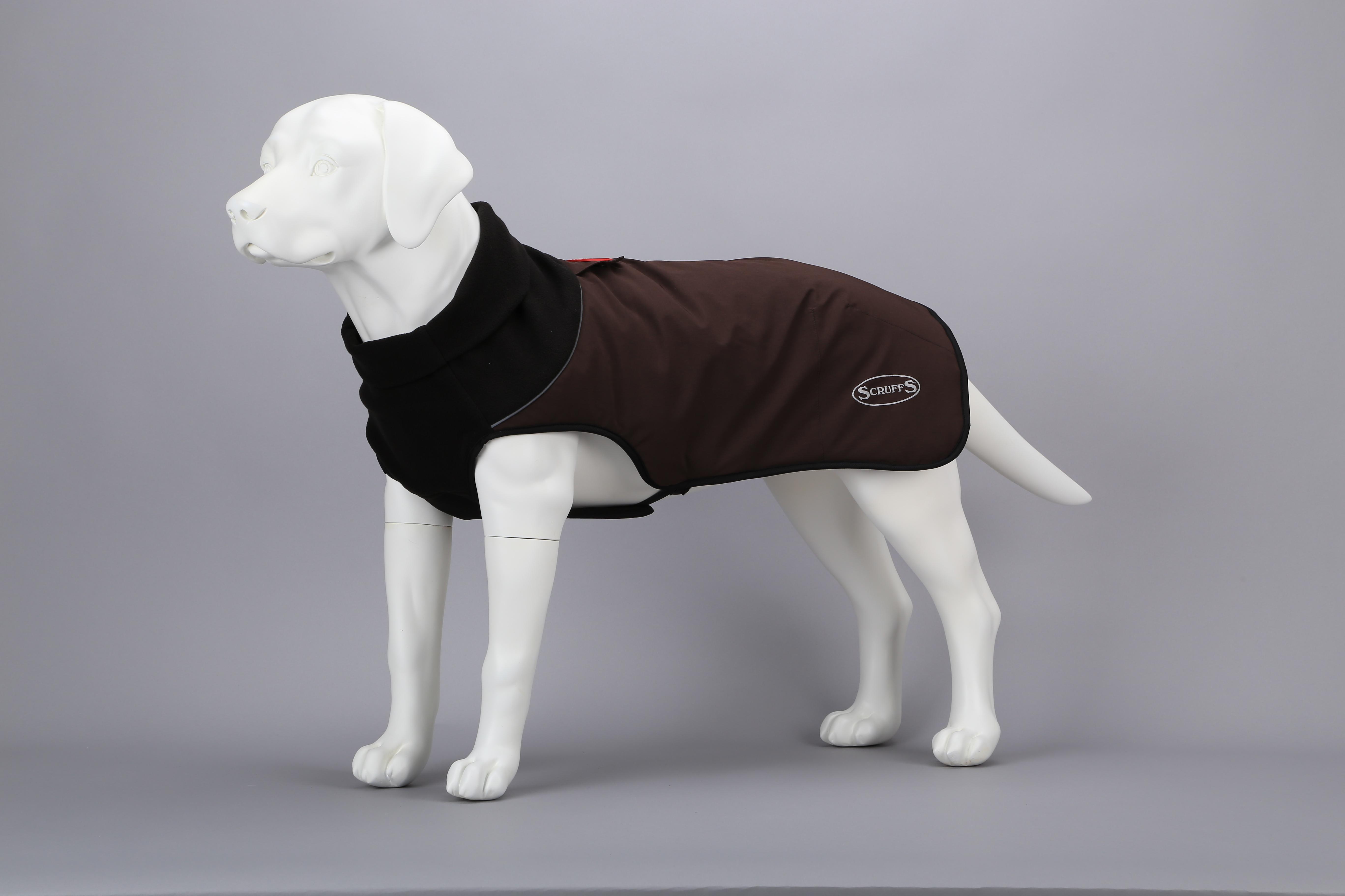 Попона для собак Scruffs Thermal Quilted Dog Coat, согревающая, 938376, коричневый, 30 см