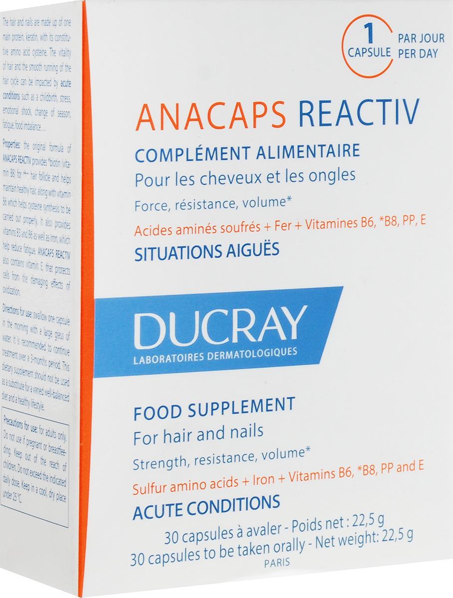 Капсулы для роста волос и ногтей Ducray Anacaps Reactiv N30 кетонал капсулы 50 мг n25