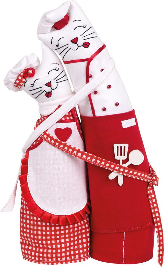 """Набор для изготовления игрушки Miadolla """"Коты-обнимашки поварята"""", C-0205"""