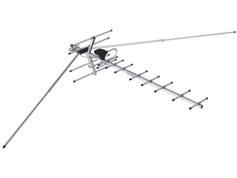 Антенна телевизионная Proffi ТВ 161 с усилителем, PH0156, серебристый цены