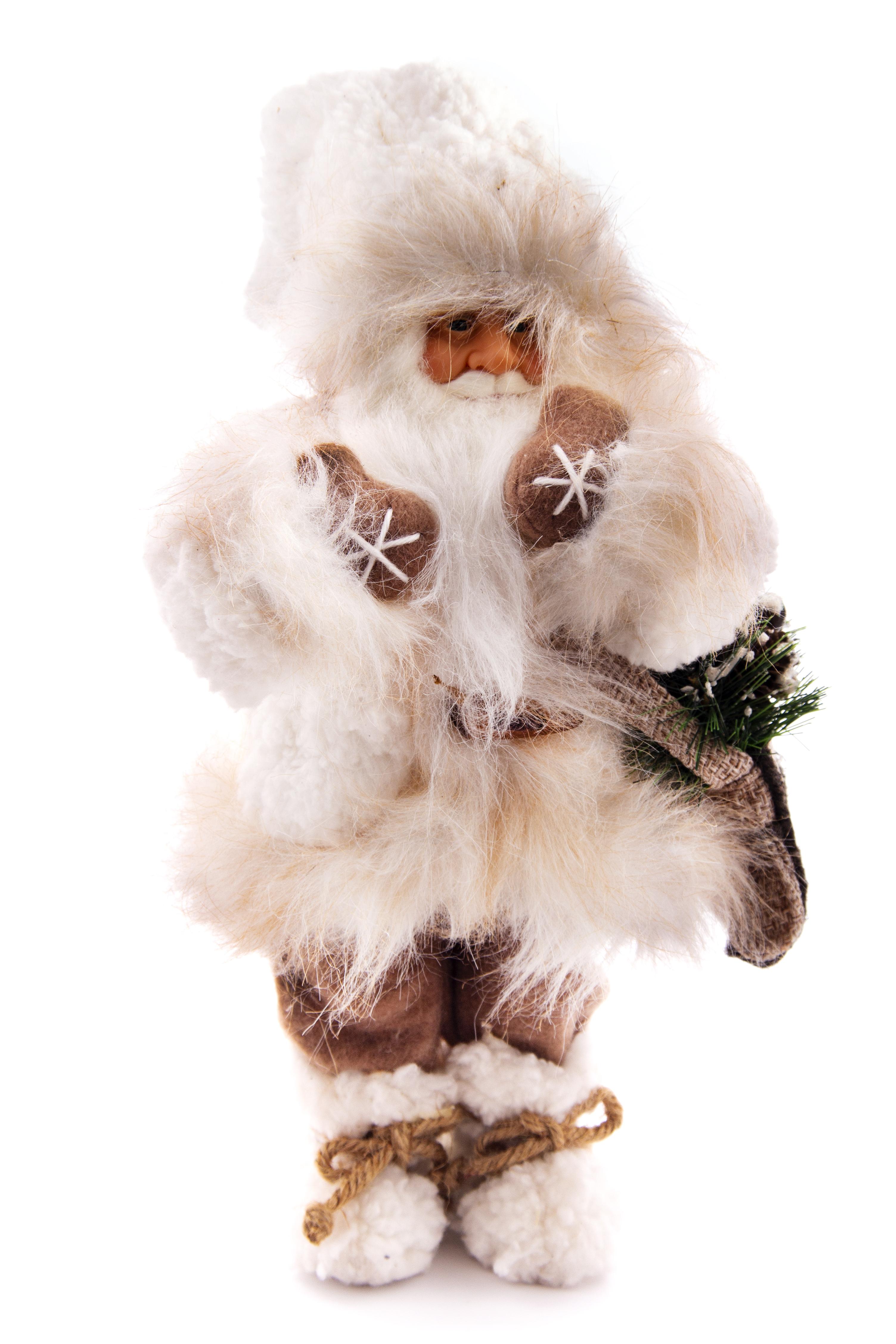 Фигурка праздничная Русские Подарки Дед мороз, 32 х 18 х 12 см пакет подарочный magic time дед мороз и дети 26 х 32 4 х 12 7 см