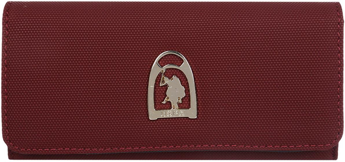Портмоне женское U.S. Polo Assn., A082SZ0CD0K8FANE_VR014, бордовый женское платье polo