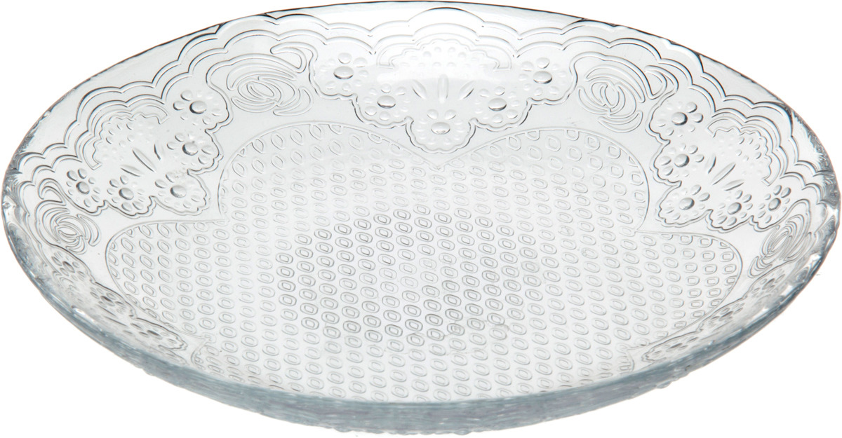 Тарелка Pasabahce Лейси, 10528B, диаметр 19.4 см, 6 шт набор десертных тарелок pasabahce aurora диаметр 20 5 см 6 шт