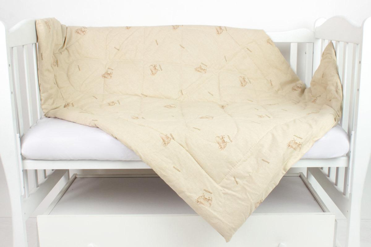 Одеяло детское AmaroBaby Сладкий сон, бежевый, 110 х 140 см одеяло евростандарт стеганное arya овечья шерсть ar e0003969