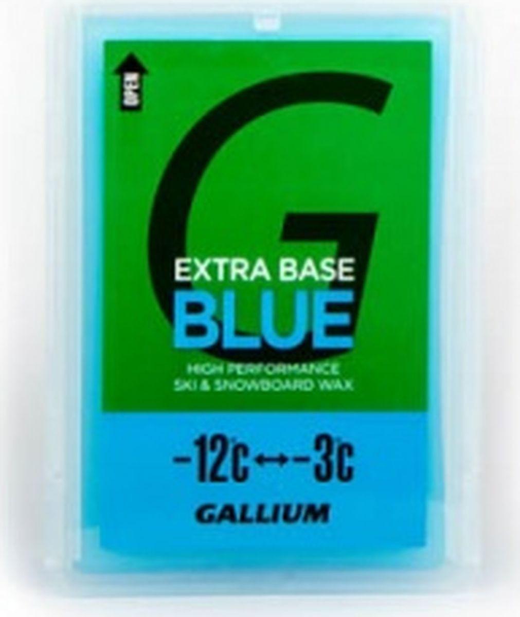 Парафин без содержания фтора Gallium Extra Base Blue, sw2074, -12...-3°С, 100 г мази и парафины ip evtyukhov парафин lf5 10 30