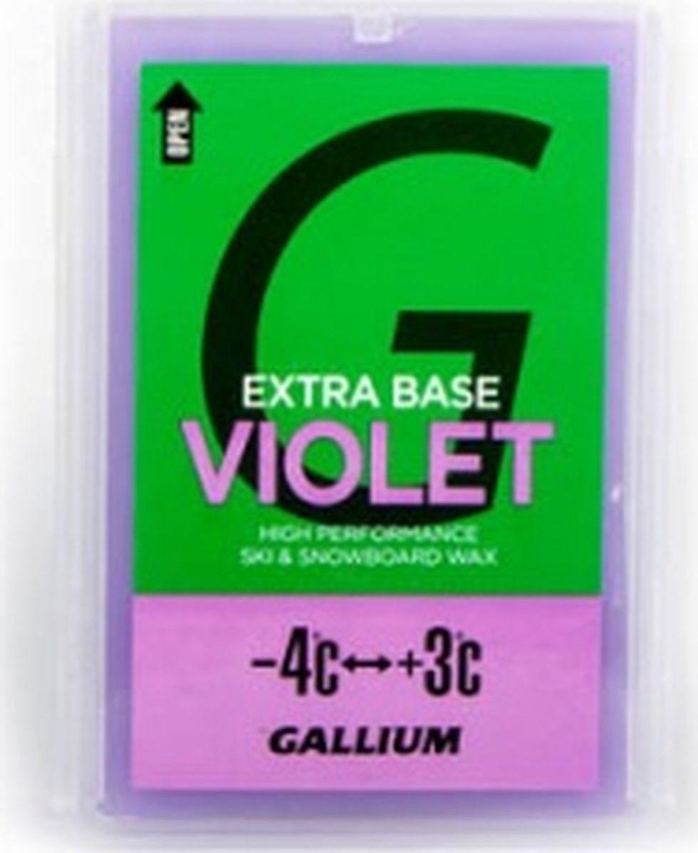 Парафин без содержания фтора Gallium Extra Base Violet, sw2075, -4...+3°С, 100 г мази и парафины ip evtyukhov парафин lf5 10 30
