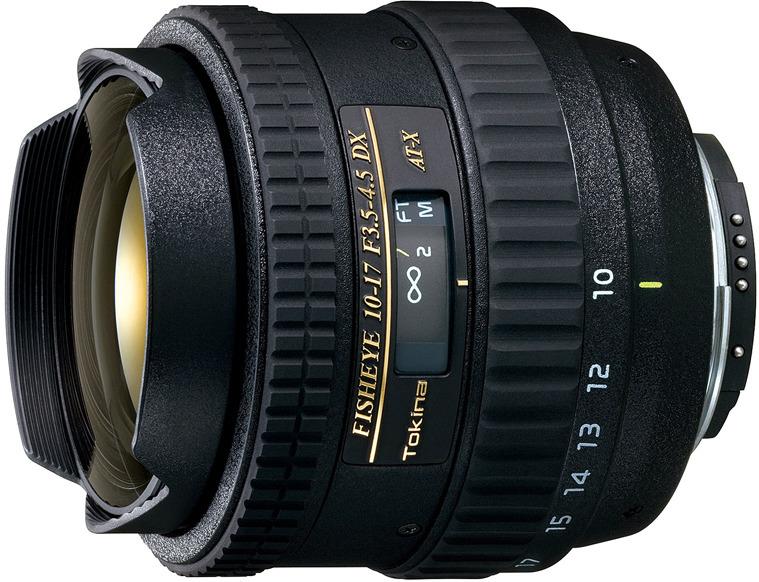Объектив Tokina AT-X 10-17mm 107 F3.5-4.5 DX Fisheye N/AF для Nikon, Black зеркальный фотоаппарат nikon d7500 af s dx nikkor 18 105vr черный