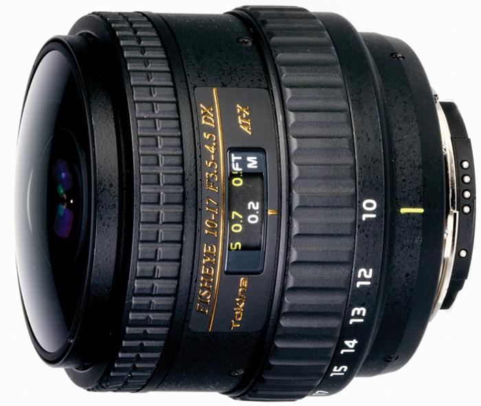 Объектив Tokina AT-X 10-17mm 107 F3.5-4.5 DX Fisheye NON HOOD N/AF для Nikon, Black